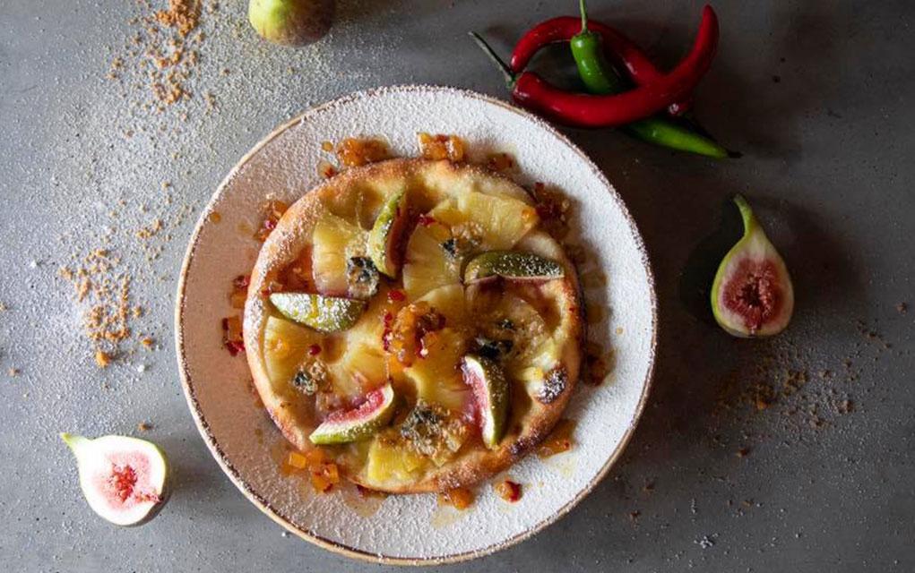 Roasted pineapple pizza