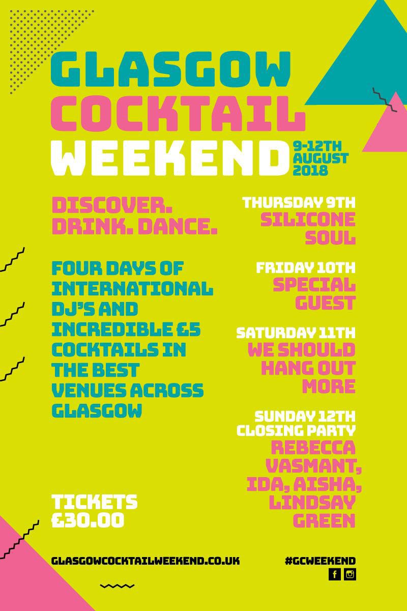 Glasgow Cocktail Weekend Line Up