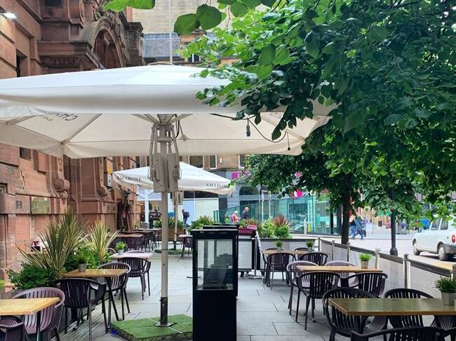Amarone Outdoor Seating in Glasgow City Centre